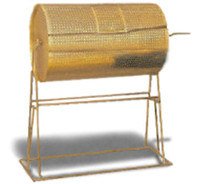 Giant Brass-Plated Raffle Drum