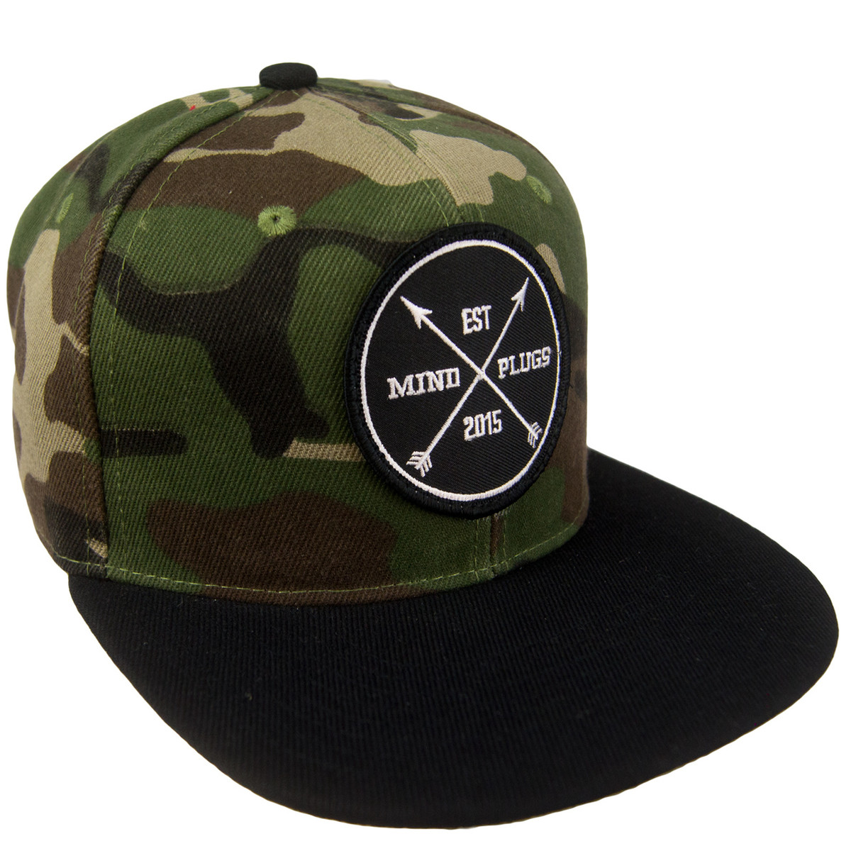 Camo x Black Est Patch Snapback