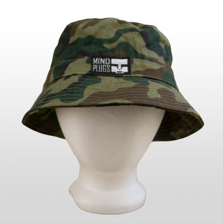 0fb96a98fc7 Add this functional yet fashionable Camouflage Mind Plugs bucket hat to  your outfit to add instant