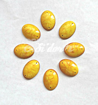 50 Pieces - Oval Cabochon 18 x 25 mm  Yellow