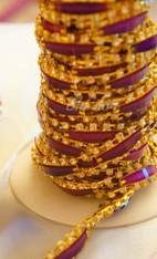 Rhinestone Trim -  Purple Rectangle Diamond Trim - Per Yard