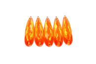 50 Pieces - 8 x 28 mm Teardrop Stone Orange