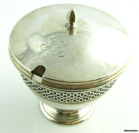 Authentic Tiffany & Co. Vintage Jam Jelly Jar - 925 Sterling Silver 205g Antique