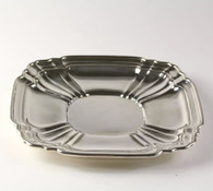 """Gorham Silver Serving Tray 9.25"""" - Sterling 925 Fluted Collectible Polished"""