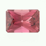 5.65ct Loose Rubellite Tourmaline Gemstone - Modified Rectangular Cut Solitaire