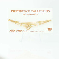 New ALEX AND ANI Anchor Pendant Necklace Sterling Silver Nautical 14k Gold Plate
