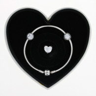 New Authentic Pandora Sparkle of Love Gift Set Charm Bracelet USB79119 CZ Hearts