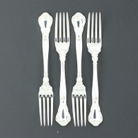 "Gorham Chantilly Fork 1895 1950 Sterling Silver 7"" Flatware Silverware Set of 4"