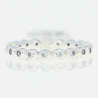 NEW Authentic Pandora Eternity Ring - Sterling Clear CZs 54 (US 7) 191032CZ