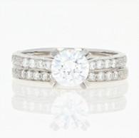 NEW Jabel Semi-Mount Engagement Ring & Wedding Band - 18k Gold Diamonds .32ctw
