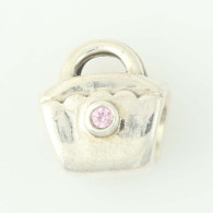 NEW Authentic Pandora Handbag Charm - Sterling Pink CZ Purse 790309PCZ Retired