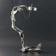 Figural Floral Bottle Holder Nude Sculpture 95% Silverplated Decorative Barware