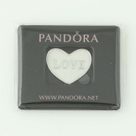 New Authentic Pandora Love Heart Locket Plate Floating Charm 792119EN23 Sterling