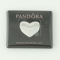 New Authentic Pandora Floating Heart Plate Petite Medium Sterling Silver 792120