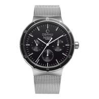 Obaku Dyb - Onyx Men's Watch Steel Black Dial Multi-Function 2Yr Wnty V220GMCBMC