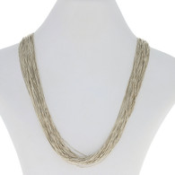 """Carolyn Pollack Southwestern Liquid Silver Necklace 30 1/4"""" Sterling 50 Strands"""