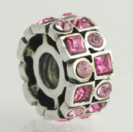 NEW Chamilia Bead Charm - Sterling Silver Stepping Stones - Rose 2025-0841
