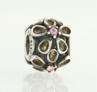 NEW Chamilia 2025-0754 Bead Charm - Sterling Silver Dazzling Daisy - Pink