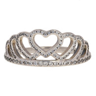 NEW Authentic Pandora Hearts Tiara Ring Sterling Silver Clear 54 (US 7) 190958CZ