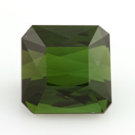 5.71ct Loose Tourmaline Gemstone - Genuine Green Square Faceted