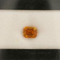 2.65ct Loose Tourmaline Gemstone USGSI Report - Emerald Cut Orange