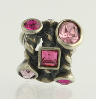New Chamilia Bead Charm - JC-2D Marquise Pink Swarovski Crystal Sterling Silver