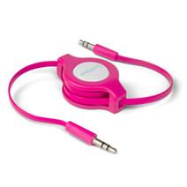 AUX Audio Retractable Cable - Pink