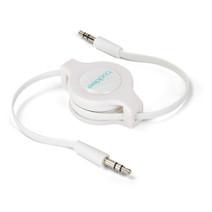 AUX Audio Retractable Cable - White