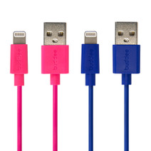Lightning USB Cable Twin Pack - Pink/Blue