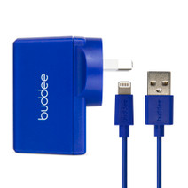 Lightning Cable and USB Wall Charger 2.4A - Blue