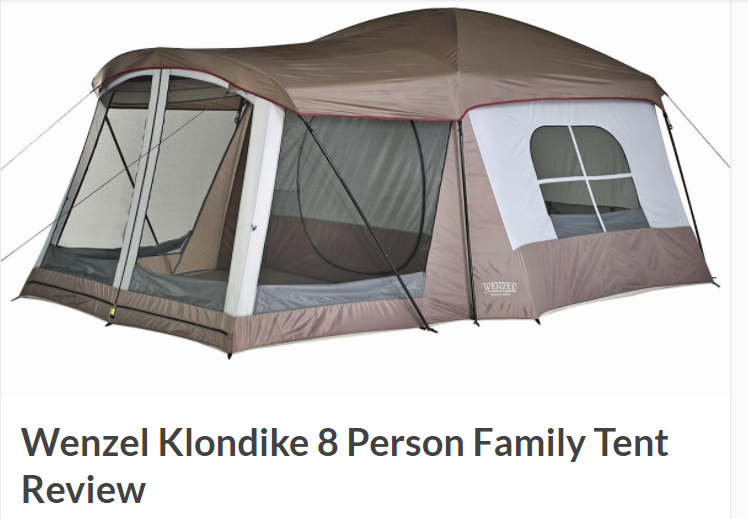 Full Article here.  sc 1 st  Wenzel & Outdoor Gear Reviewed- Klondike 8 person family tent - Wenzel