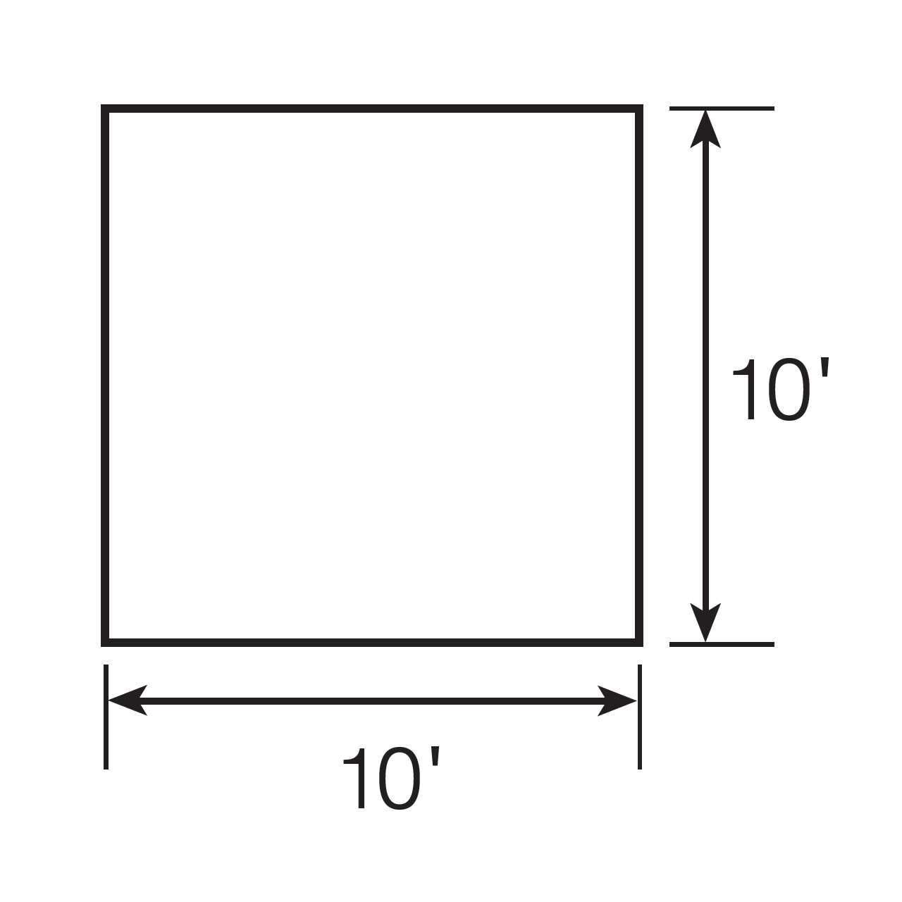 Floor plan of the Wenzel Smartshade Screen House using a diagram to illustrate the dimensions