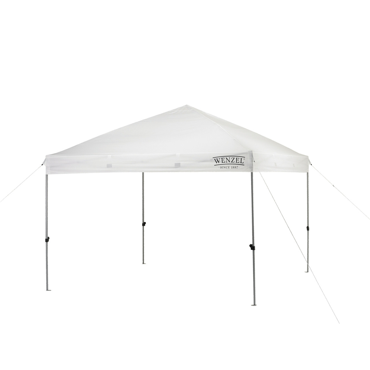 Wenzel Smartshade Canopy 10'x10', white, setup with the guy lines extended