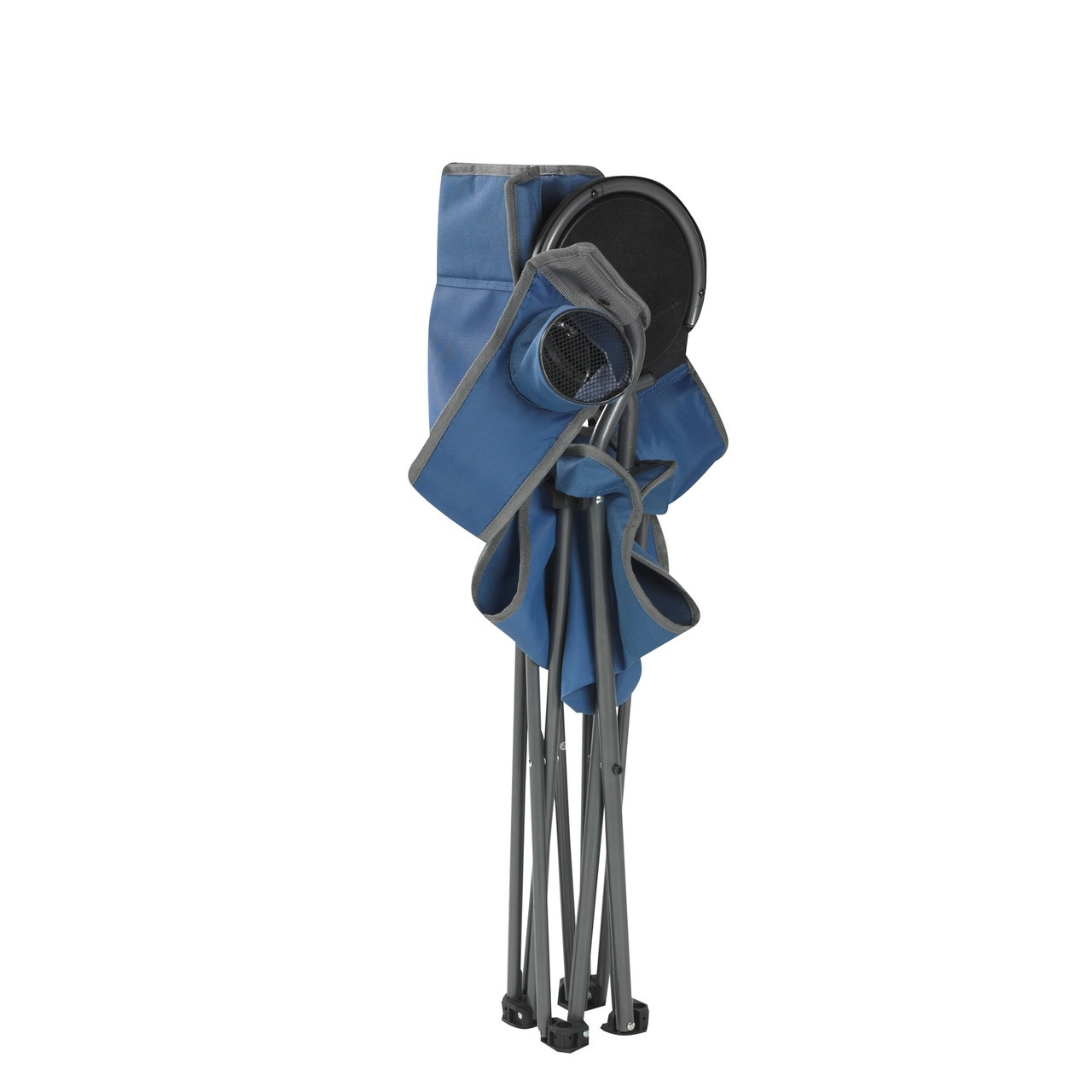 Wenzel Banquet Chair XL, blue and gray, standing folded up
