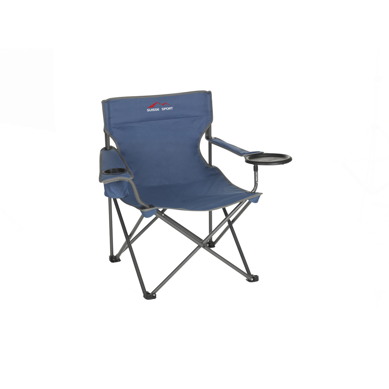 Wenzel Banquet Chair XL, blue and gray, sitting down extended with the plate holder down