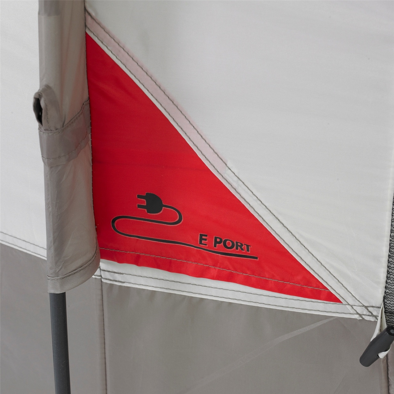 Close up view of the E-port electrical cord slot on the Wenzel Blue Ridge 7 Tent