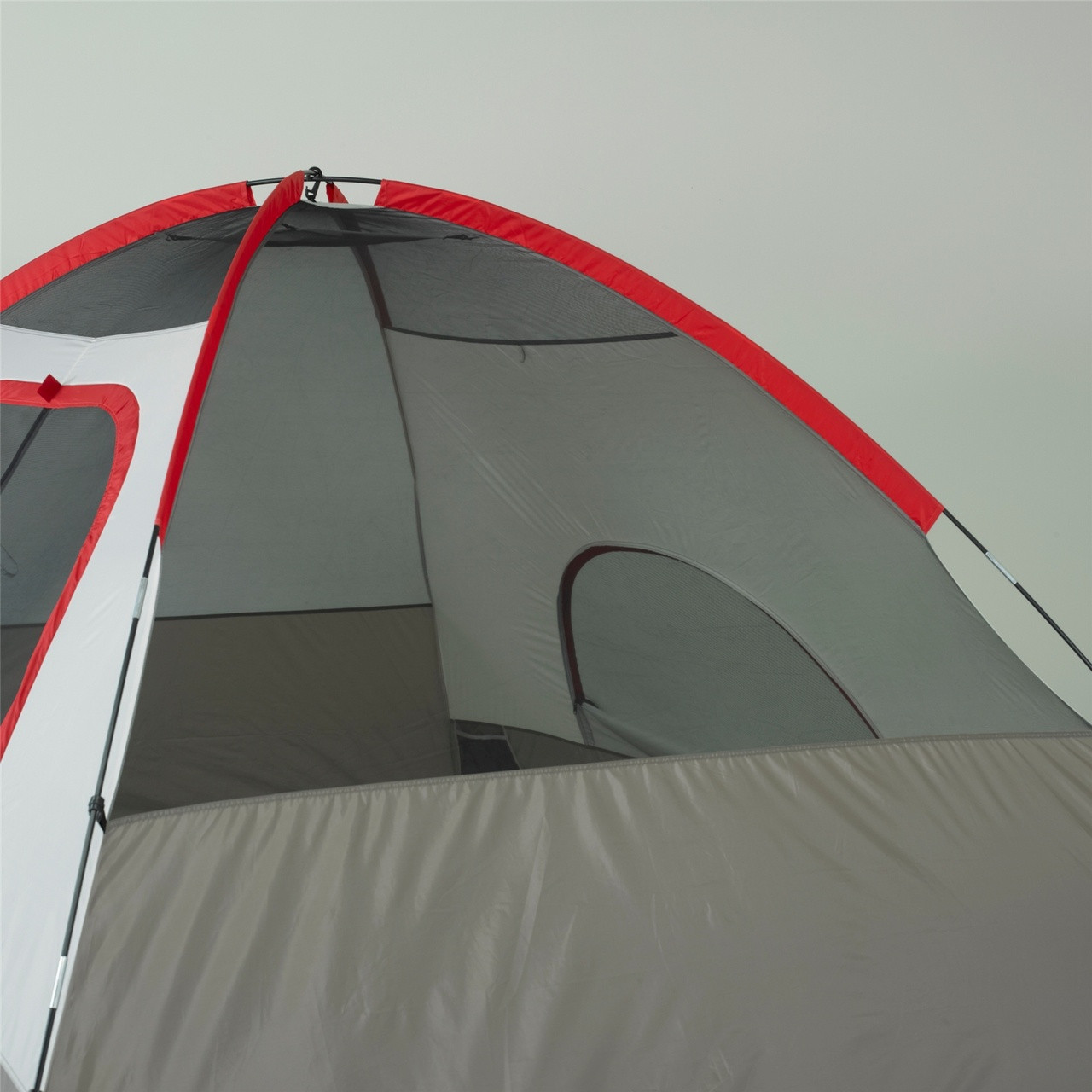 Side view of the Wenzel Pine Ridge 5 tent setup without the rain fly on showing the interior of the tent