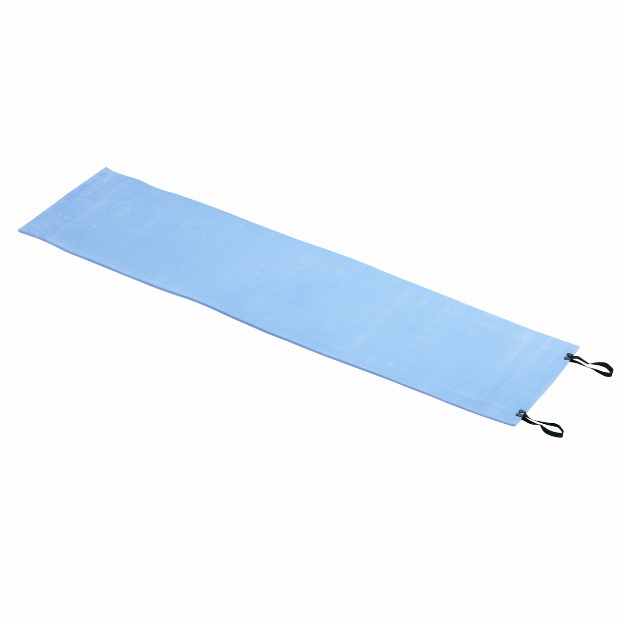 Wenzel Camp Pad, blue, laying completely flat fully extended
