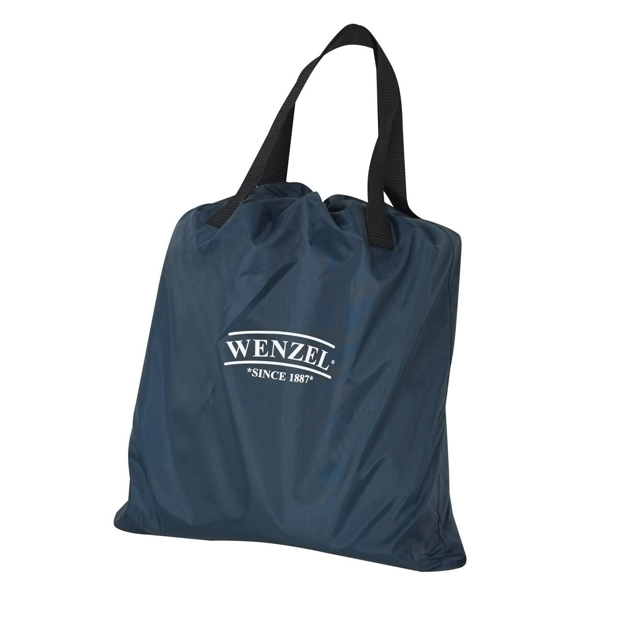 Wenzel Sleep-Away Airbed - Full deflated and stored in the blue storage bag