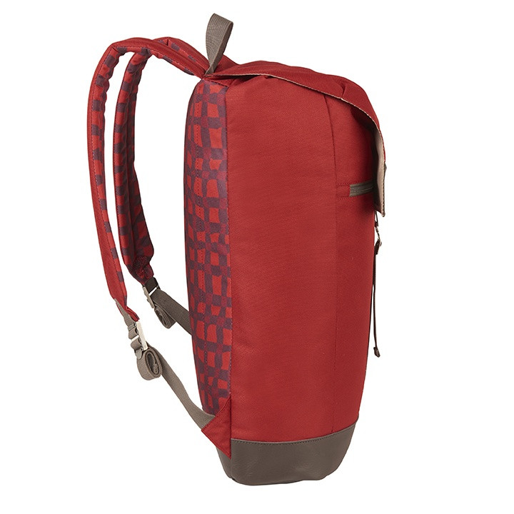 Side view of the Wenzel Stache 20 backpack showing the shoulder straps and the main compartment closed