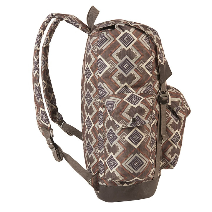 Side view of the Wenzel Stache 28 Backpack showing the side compartments and main compartment latched