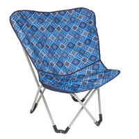 Wenzel Butterfly Chair, blue multi color pattern