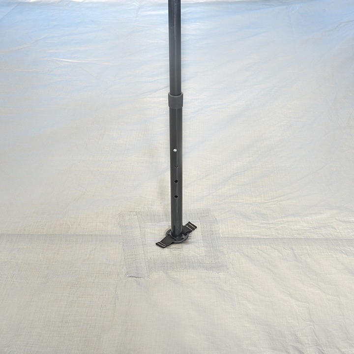 Close up view of the main interior pole on the Wenzel Shenanigan 8 tent