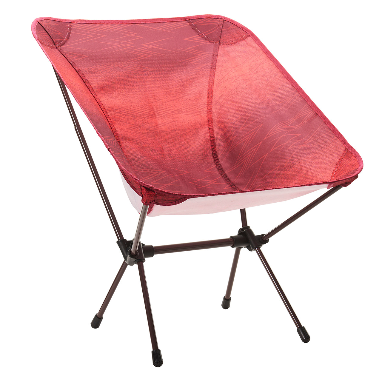 Front view of the Wenzel Micro Chair, red, setup
