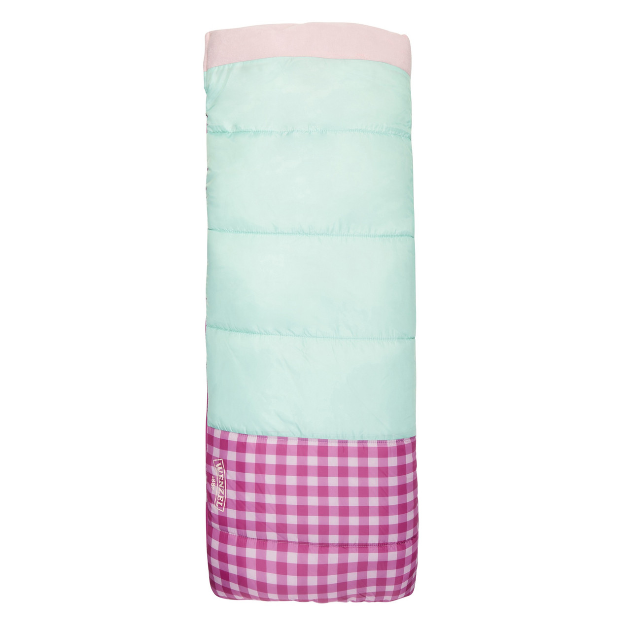 Wenzel Sapling Youth Sleeping Bag, pink, shown fully zipped