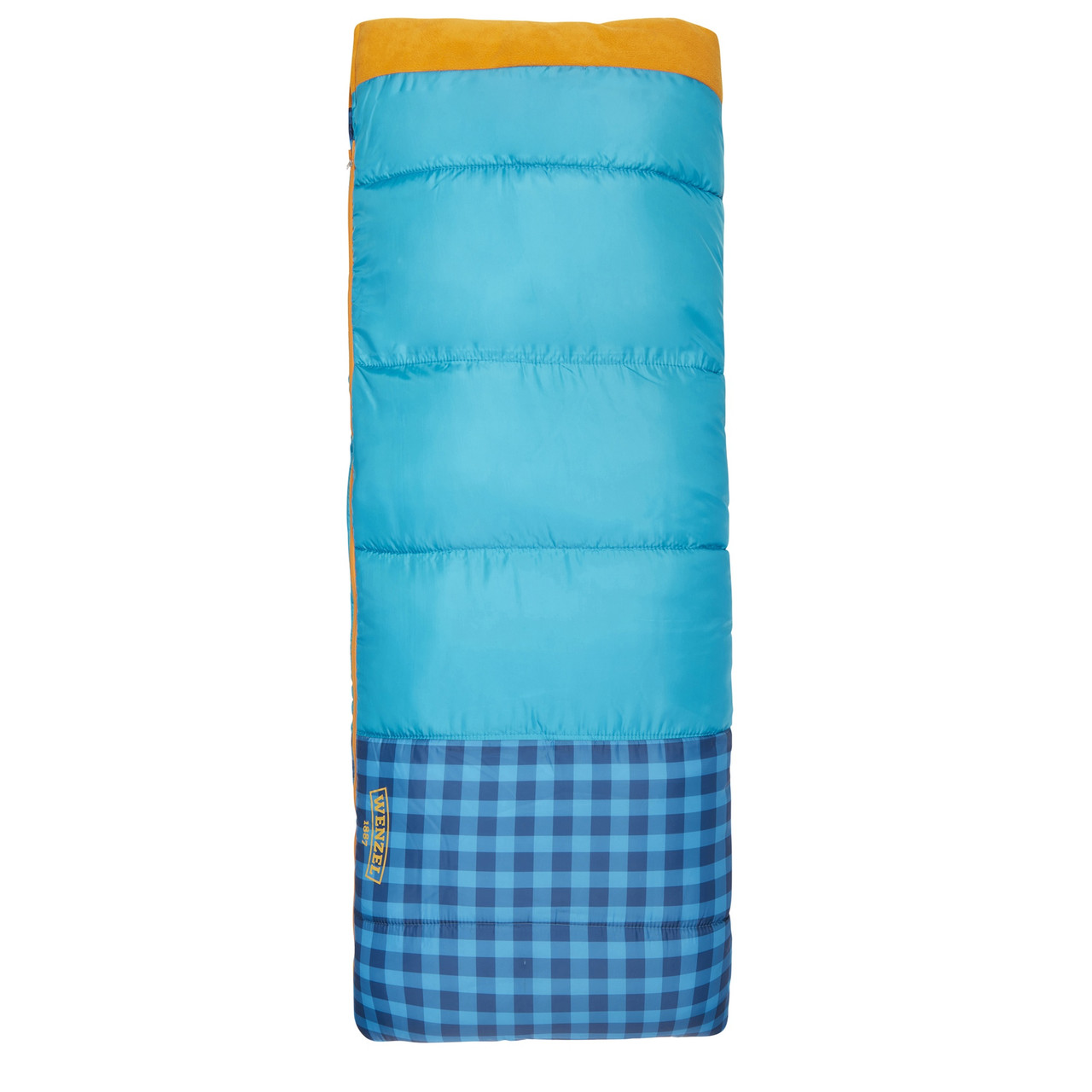 Wenzel Sapling Youth Sleeping Bag, blue, shown fully zipped