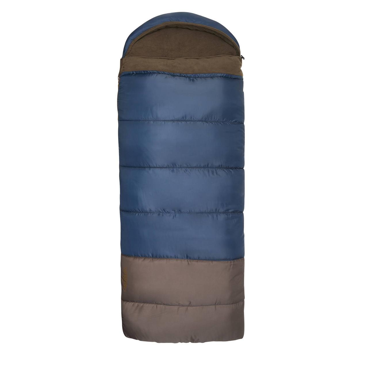 Wenzel Monterey Sleeping Bag, blue, shown fully zipped