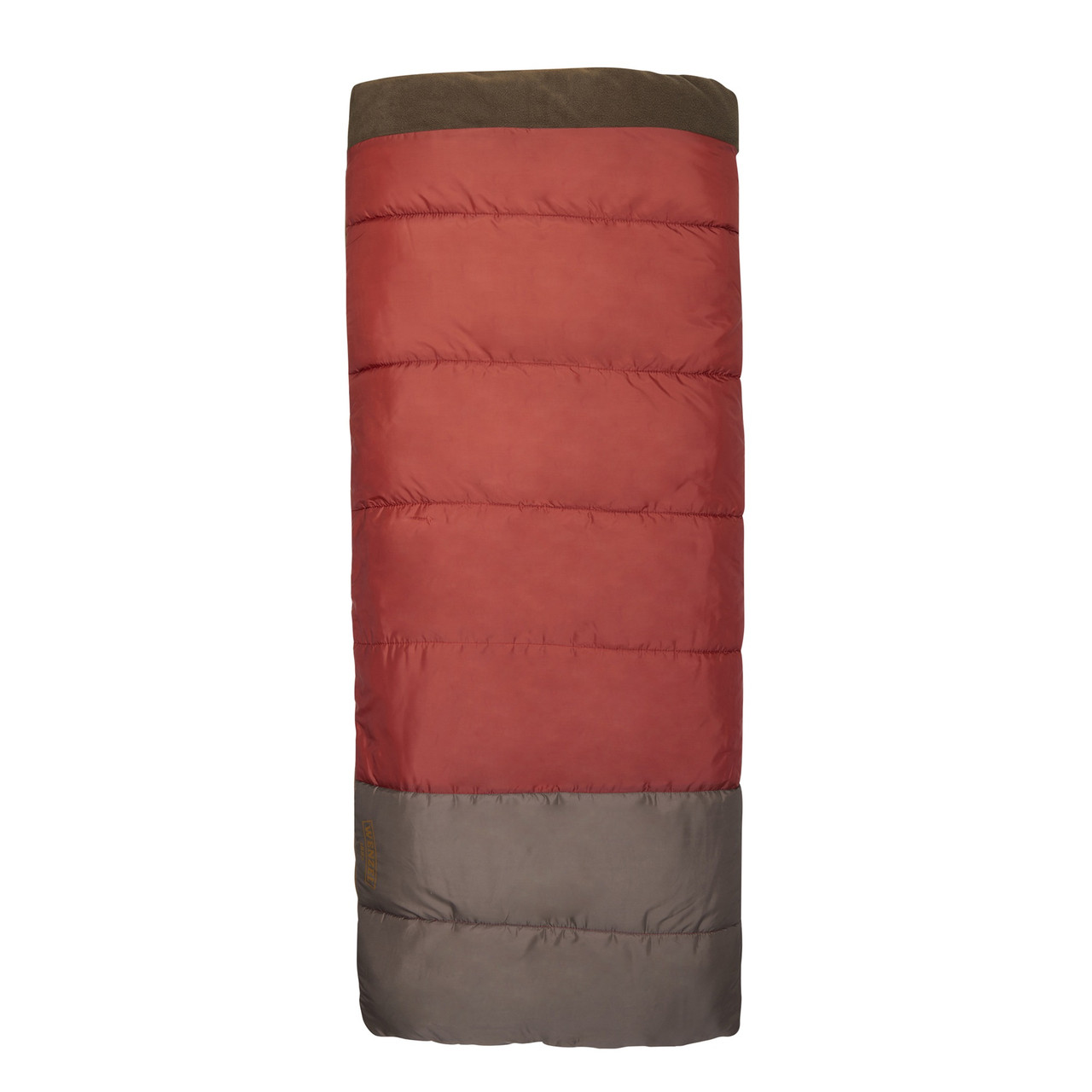 Wenzel Lodgepole Sleeping Bag, red, shown fully zipped