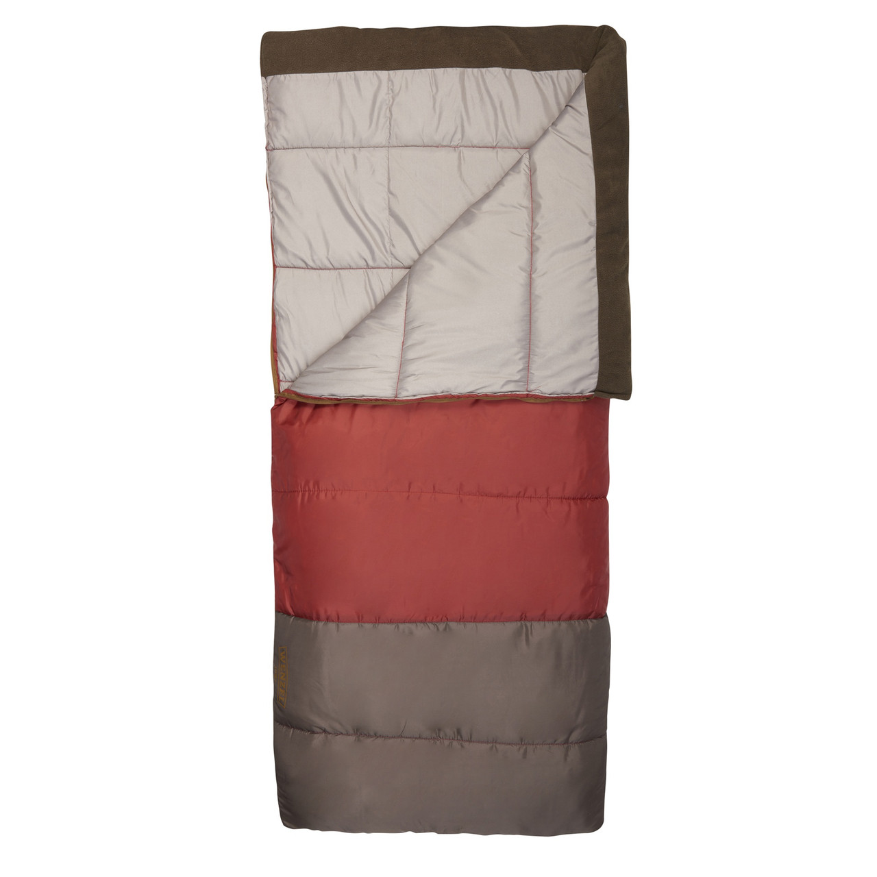 Wenzel Lodgepole Sleeping Bag, red, shown partially unzipped