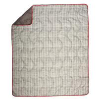 Wenzel Camp Quilt, Brown, with corner folded over